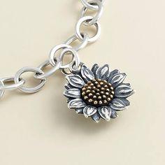 Wild Sunflower, Sunflower Ring, James Avery Heart Charms, Summer Bracelets, Bespoke Jewellery, Charm Jewelry, Charm Bracelets, Michael Kors Bag, Charmed