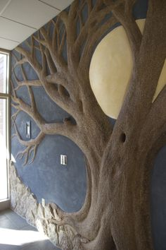 Cob tree with full moon