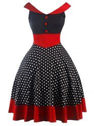Polka Dot Mini Pin Up Dress