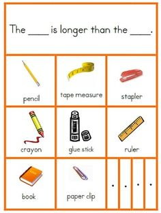 Students will complete a worksheet by comparing the pictures and using the knowledge that they have about size to determine which pictures are bigger or smaller than other pictures. CCSS.MATH.CONTENT.K.MD.A.2