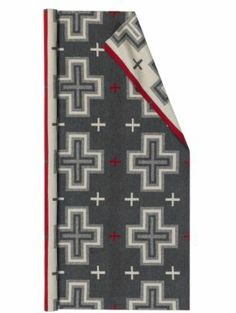 """Pendleton Woolen Mills: SAN MIGUEL FABRIC $80 yard 64"""" wide. 17"""" repeat. Blanket-weight fabric. Reversible. 82% pure virgin wool/18% cotton. Dry clean only. Made in the USA."""
