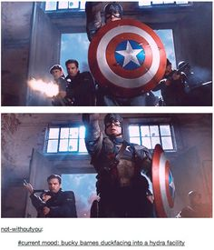 Current mood: Bucky Barnes duckfacing into a Hydra facility<,I never noticed this.......new favorite part.
