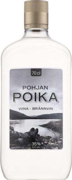 Pohjan poika viina - brännvin ... #viina #alkoholi #mainos Vodka Bottle, Drinks, Drinking, Beverages, Drink, Beverage