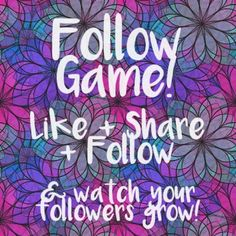 ❤️❤️❤️ Follow Game! ❤️❤️❤️ Follow game! Be sure to follow me, like this post, follow everyone else who likes it and then share it with your followers! Spread the love and tag others who may want to play! Follow Game Other