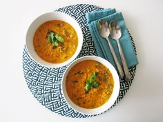 Coconut Curry Lentil Soup - Vegan and Gluten-Free