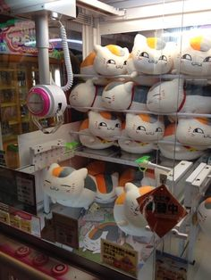 Nyanko Sensei plush dolls crane game ~~~ OMFG, that's weird to see from this perspecitive!