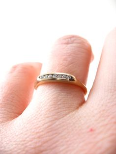 Tiny Channel Set Engagement Ring or Wedding band Made in San Francisco by Sharon Zimmerman. Available on @etsy !