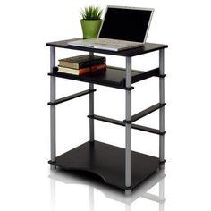 Furinno 10016BK/GY Home Laptop Notebook Computer Desk Black/Grey