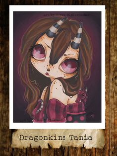 Fairy goth dragon girl lowbrow fantasy art print by WhiteStag, $7.00