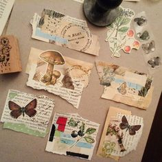 Some scraps, cutouts and some stamping I've put together as embellishments – Scrapbooking Kunstjournal Inspiration, Bullet Journal Inspiration, Paper Art, Paper Crafts, Pen Pal Letters, Art Journal Pages, Journal Covers, Art Journals, Glue Book