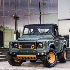 These Custom Land Rover Defenders Are Absolutely Insane - Airows Landrover Defender, Kahn Defender, Land Rover Defender Pickup, Land Rover Defender Interior, Pickup Trucks, Jeep Truck, Cool Trucks, Cool Cars, Kahn Design