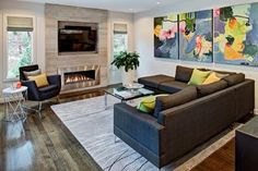 Tv Wall Units Modern Design Ideas, Pictures, Remodel and Decor