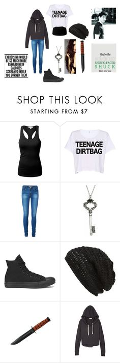 """""""Maze Runner Preferences-Minho"""" by aquata ❤ liked on Polyvore featuring J.TOMSON, Vero Moda, Yochi, Converse and King & Fifth Supply Co."""