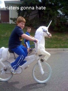 I want a unicorn bike.