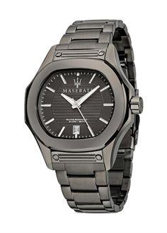 pánske luxusné hodinky Maserati - oceľové (farba: Gunmetal) - GUN.789.314 Maserati, Perfect Christmas Gifts, Casio Watch, Omega Watch, Fossil, Guns, Watches, Accessories, Hugo Boss