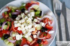Receta de ensalada griega - azul