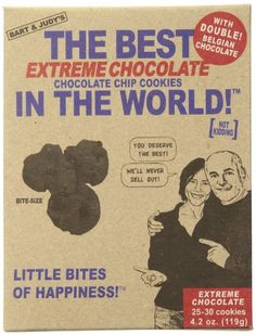 Bart's Bakery Extreme Chocolate Chocolate Chip Cookies, 4.2 Ounce Box - http://bestchocolateshop.com/barts-bakery-extreme-chocolate-chocolate-chip-cookies-4-2-ounce-box/