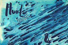 Fluid Painting Background Set by Transfuchsian on @creativemarket