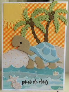 Marianne Design Cards, 1st Birthday Cards, Beach Cards, Elizabeth Craft, Cricut Cards, Scrapbook Embellishments, Animal Cards, Love Cards, Kids Cards