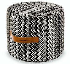 Missoni Home Vevey Cylindrical Pouf