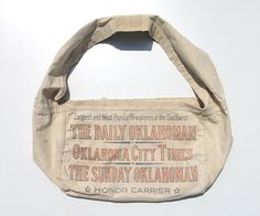 Vintage Newspaper Bag