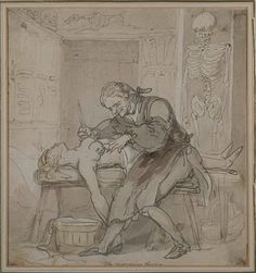 So I really do love this picture!!!  The Persevering Surgeon, by Thomas Rowlandson