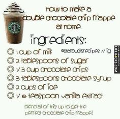 How To Make A Starbucks Double Chocolate Chip Frappe - #Coffee, #Starbucks