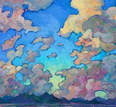 Clouds Above - Contemporary Impressionism   Landscape Oil Paintings for Sale by Erin Hanson