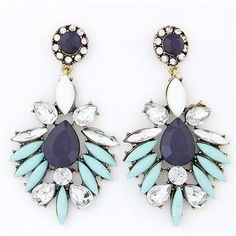 """You will love the statement these earrings make with any outfit you wear them with. They are the perfect size with the perfect amount of color and sparkle! - Measurements: 2.8 x 1.5 inches """"Love your"""