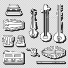 Indian Instruments (Vector EPS, CS, asian, beat, classical, drum, eastern, ethnic, exotic, icons, illustration, india, indian, instruments, isolated, leather, music, musical, object, pair, percussion, popular, Raga, rhythm, set, sketch, sound, tabla, traditional, vector, white, world)