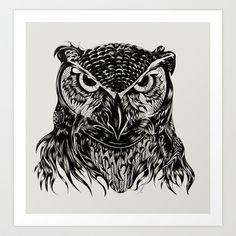 Owl Art Print by Felicia Atanasiu - $18.00