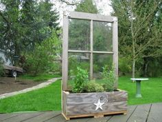 great idea! I've got a couple old windows in the shed .... another spring/summer project??? herbs???