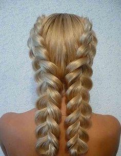 fishtail pigtails | Плетение кос: французские косы