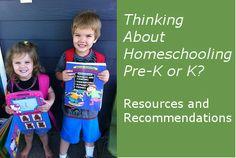 """List of low-prep, """"open and go"""" preschool and Kindergarten curriculum"""