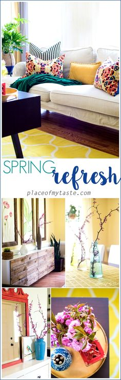 Fun, cheery Spring refresh home tour via Place Of My Taste