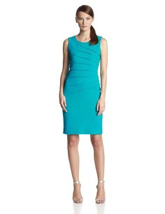 Calvin Klein Women's Petite Sleeveless Seamed Sheath Dress ** Click image for more details. (This is an affiliate link and I receive a commission for the sales)