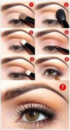 Easy natural eye makeup idea for brown eyes for every day Beauty & Personal Care - Makeup - Eyes - Eyeshadow - eye makeup - http://amzn.to/2l800NJhttp://bestmakeupstyles.com/eye-makeup/step-by-step-eye-makeup-ideas-for-brown-eyes/#more-293