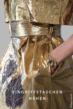 Taschen nähen | Fashionmakery Sewing Hacks, Sewing Tutorials, African Shirts For Men, Pocket Pattern, Dress Sewing Patterns, Fashion Sewing, Sewing Techniques, Welt Pocket, Sequin Skirt