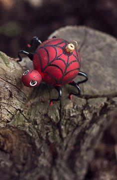 Spider Christmas ornament, bombka pająk Brokat, Blown Glass, Ornaments, Embellishments, Hand Blown Glass, Ornament, Decor