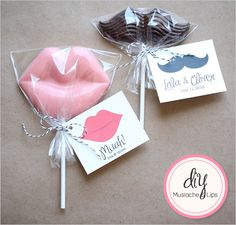Do It Yourself Mustache And Muah  Hmmm.. I think our wedding theme is coming together!