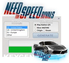 This Serial-Key Generator is application specially designed to help you activate your NFS Rivals for free by serial key registration.