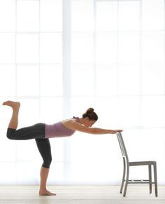 """Penche Get the lithe legs, lean core, and toned tush -- plus the poise -- of a dancer with this DIY workout. This """"barre burner"""" challenges your balance and strengthens your core, hips, and legs. R..."""