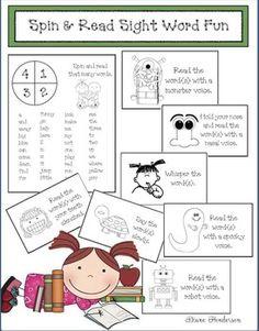 Spin Read Sight Word Fun