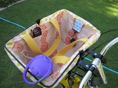 shellys sewing shrapnel: tuttie tute: bike basket linner/tote bag