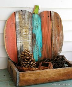 100 Best Fall Crafts for Adults - Prudent Penny Pincher Celebrate everything autumn with these fun and creative fall crafts. From pumpkin crafts to mason jar crafts, there's plenty of craft ideas to choose from Fall Wood Crafts, Easy Fall Crafts, Spring Crafts, Holiday Crafts, Diy And Crafts, Arts And Crafts, Wooden Pumpkin Crafts, Wooden Halloween Crafts, Pallet Pumpkin