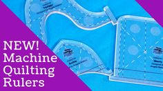 Brand new from Angela Walters and Creative Grids! These machine quilting rulers are great for creating everything from straight lines to arcs to serpentine lines.