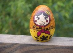 The Russian Federation  Matryoshka doll or Russian Nesting Doll - wooden or plastic egg and sharpies - look at a real one for inspiration
