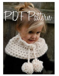 CROCHET PATTERN-The Bella Warmer Toddler Child by Thevelvetacorn... love this but I would work it up with even a little bit of a turtleneck to wear over a long sleeve shirt.