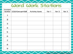 A Differentiated Kindergarten: Differentiated Word Work and A Freebie-Kinder Daily 5 Book Study Chapter 6