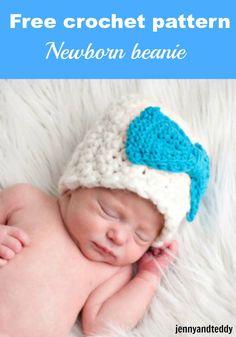 Newborn Crochet Hat Pattern Bulky Yarn : crochet for baby on Pinterest Crochet Baby, Baby Booties ...